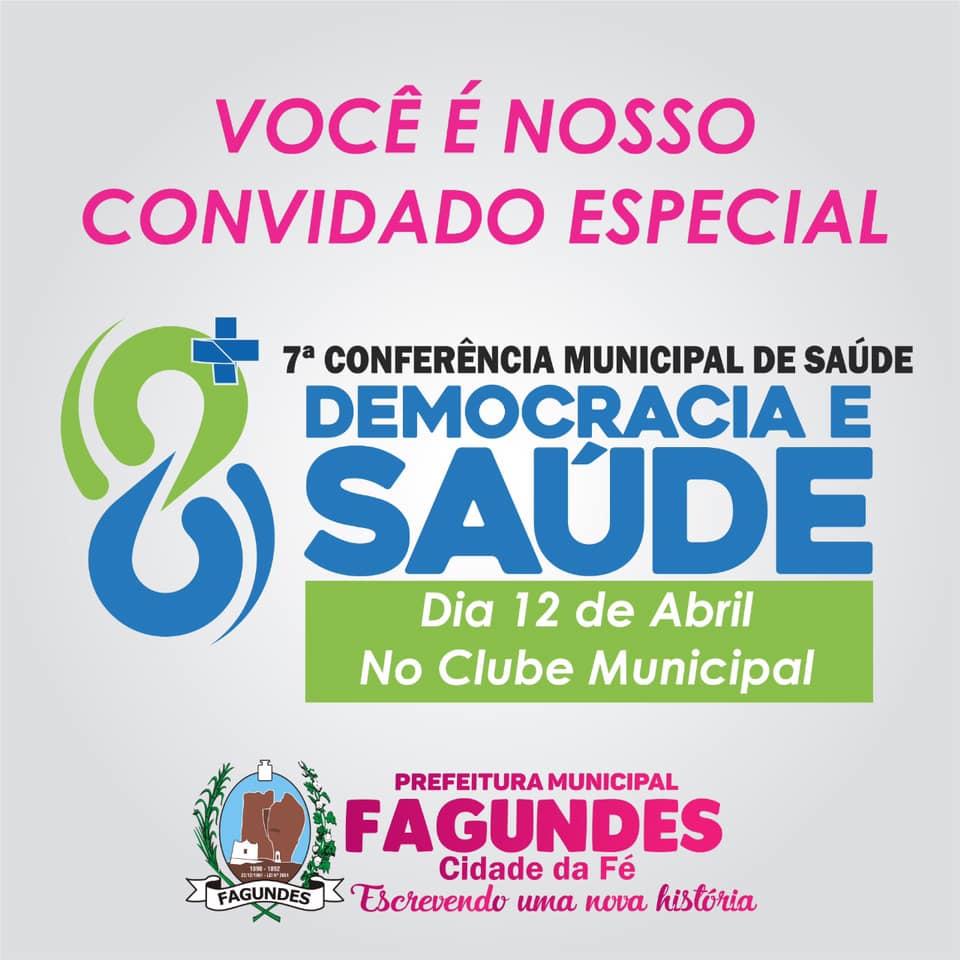 7ª Conferência Municipal de Saúde, Democracia e Saúde.